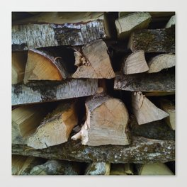Woodpile Canvas Print