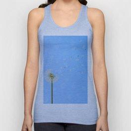dandelion seed escape Unisex Tank Top