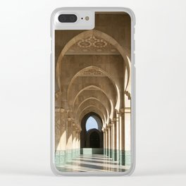 Hassan II Mosque Arcade, Casablanca Clear iPhone Case