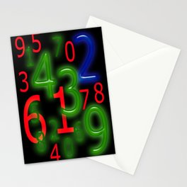 RGB Numbers Stationery Cards