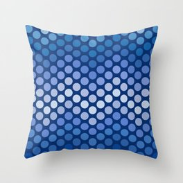 Dot Chevron: Navy Throw Pillow