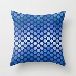 Dot Chevron: Navy Throw Pillow