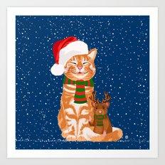 Christmas Buddies Art Print