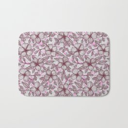 Spring Blossom in Marsala, Pink & Plum Bath Mat