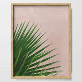 Summer Time | Palm Leaves Photo Serving Tray