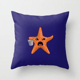 STARving artFISH Throw Pillow