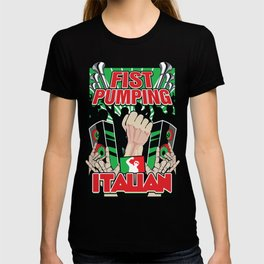 Fist Pumping Italian T-shirt