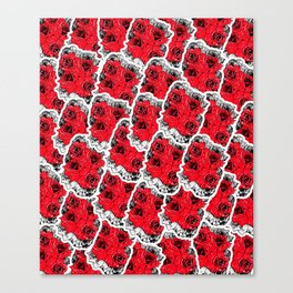 Rock & Roses Canvas Print