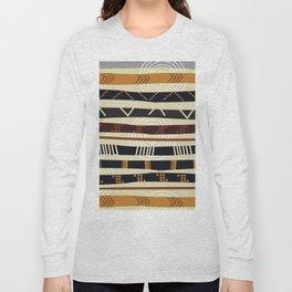 African Tribal Pattern No. 35 Long Sleeve T-shirt