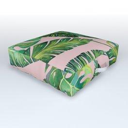 Jungle Leaves, Banana, Monstera Pink #society6 Outdoor Floor Cushion