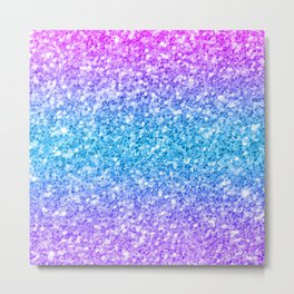 Colorful glam glitter and sparkles Metal Print