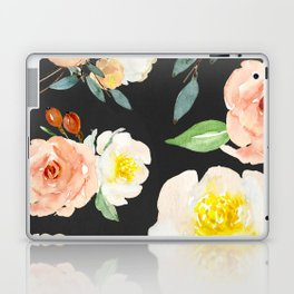 Watercolor Flower Collage on Chalkboard Laptop & iPad Skin