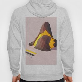 3D Abstract Geometric Volcano Ultra HD Hoody