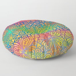 DP050-3 Colorful Moroccan pattern Floor Pillow