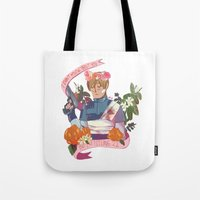 """resident evil Tote Bags featuring Resident Evil 2 Print - """"22 - Leon"""" by MIU/Manzo"""