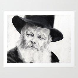 Lubavitcher Rebbe Art Print