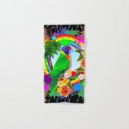 Rainbow Lorikeet Parrot Art Hand & Bath Towel