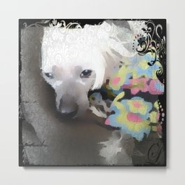 Sleepy Miss Po Metal Print