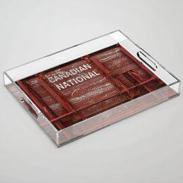 Red Wagon Acrylic Tray