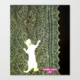 Climbing the Net handcut collage Canvas Print