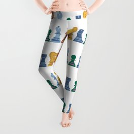 colorful chess pieces Leggings