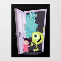 monsters inc Canvas Prints featuring Monsters inc. by Maria Jose Da Luz