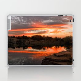 Sunset at Halibut Point Quarry Laptop & iPad Skin