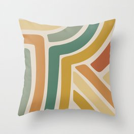 Abstract Stripes III Throw Pillow