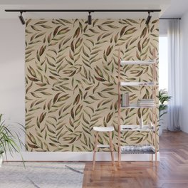 Autumnal Leaves Pattern 4 Wall Mural
