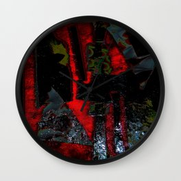 Awesome reds and darkened depths Wall Clock