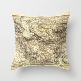 Iran & Turan Map (1891) Throw Pillow