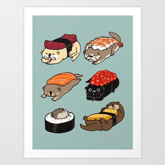 Sushi Otter by huebucket