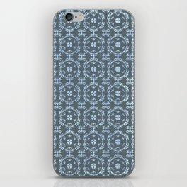 Vintage Damask Tile Pattern Blue iPhone Skin