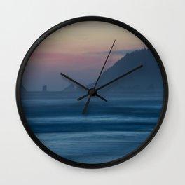 Cannon Beach at Dusk Wall Clock