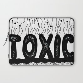 Toxic Cute Typography Design Laptop Sleeve