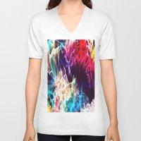 random V-neck T-shirts featuring random by new art