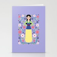 mulan Stationery Cards featuring Mulan by Carly Watts