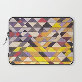 Triangle Pattern No.8 Black and Yellow Laptop Sleeve