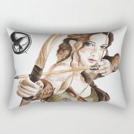 Mockingjay. Katniss Everdeen. Rectangular Pillow
