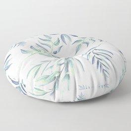 Floating Leaves Blue #society6 #buyart Floor Pillow