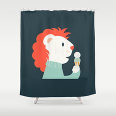 Mister Lion Shower Curtain