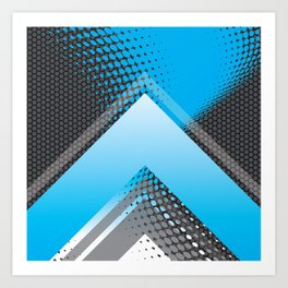 Sporty Peak Carbon Abstract Art Print