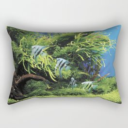 Freshwater Angelfish aquarium Rectangular Pillow