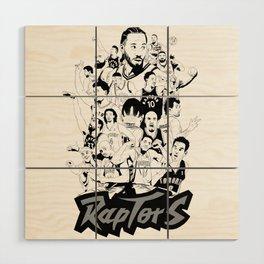 1995-2019 Raptors Wood Wall Art
