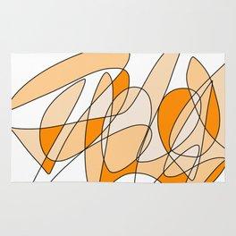 Orange Swirl Rug