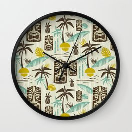 Island Tiki - Tan Wall Clock