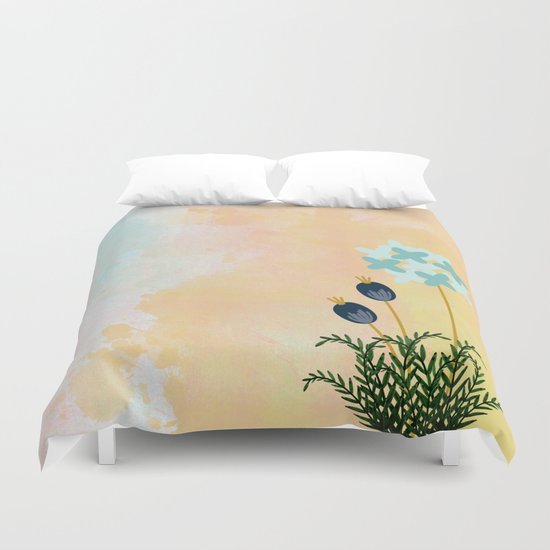 Acuarela Blue Flower 2 Duvet Cover