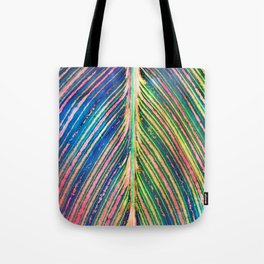 503 - Canna Leaf Abstract Tote Bag