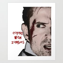 Coping with Zombies Art Print