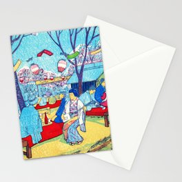 Mt. Asuka, Cherry-blossom Viewing - Digital Remastered Edition Stationery Cards